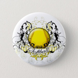 Softball Tribal Pinback Button