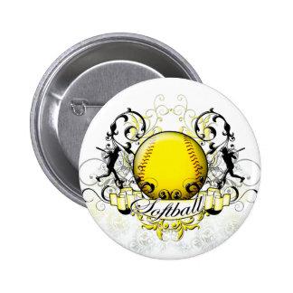Softball Tribal Pinback Button