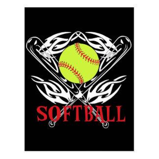 Softball Tribal Postcard