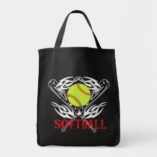 Softball Tribal Tote Bag