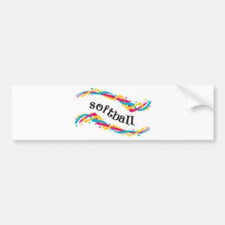 Softball Twists Bumper Sticker