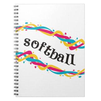 Softball Twists Spiral Note Books