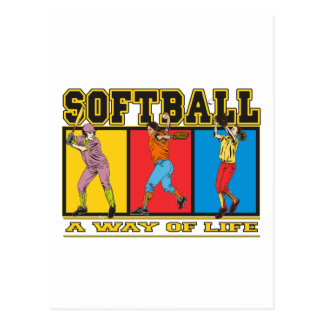 Softball una manera de vida tarjetas postales