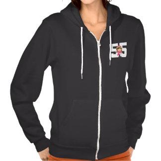 Softball Uniform Number 55 Girls Gift T Shirt