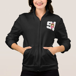 Softball Uniform Number 91 Girls Gift Jacket