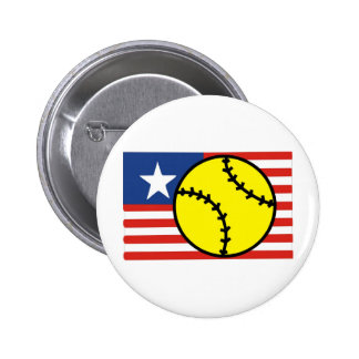 Softball USA Pinback Buttons