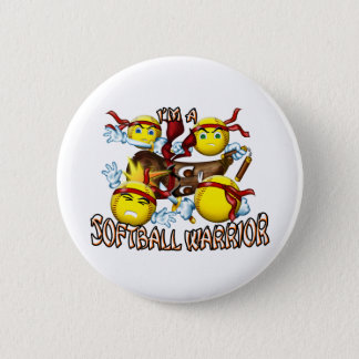 Softball Warrior Button