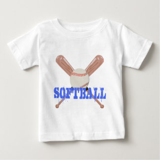Softball with Bats Baby T-Shirt