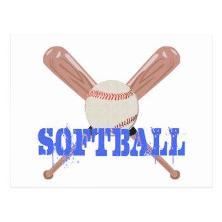 Softball with Bats Postcard