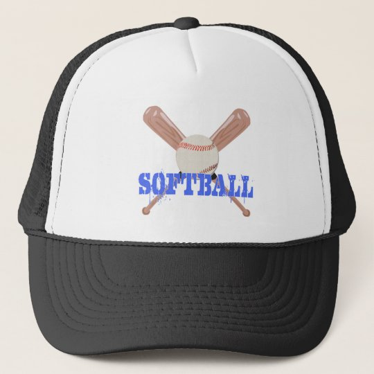 Softball with Bats Trucker Hat