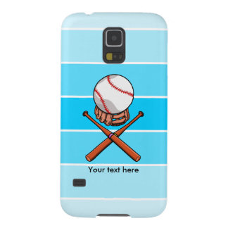 Softball With Blue Stripe Pattern Galaxy S5 Cover