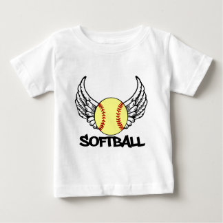 Softball with Wings Baby T-Shirt