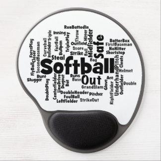 Softball Word Cloud Gel Mousepads