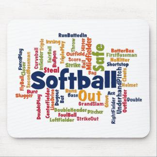 Softball Word Cloud Mousepads