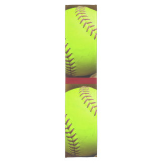 """Softball Yellow Fast Pitch 14"""" X 72"""" Table Runner"""