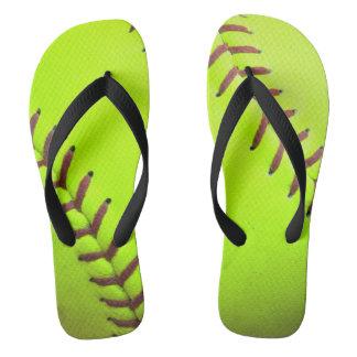 Softball Yellow Fast Pitch 8U 10 Flip Flop Sandals Flip Flops