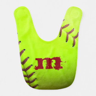 Softball Yellow Fast Pitch 8U 10U 12U 14U Baby Bib