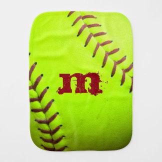 Softball Yellow Fast Pitch 8U 10U 12U Burp Cloth