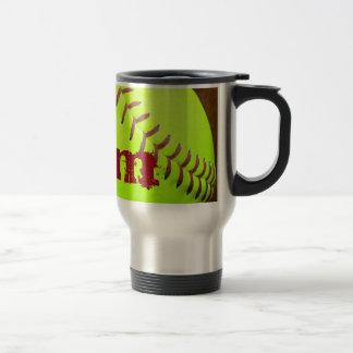 Softball Yellow Fast Pitch 8U 10U 15 oz Coffee Mug
