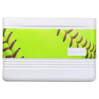 Softball Yellow Fast Pitch 8U 12 Can igloo Cooler