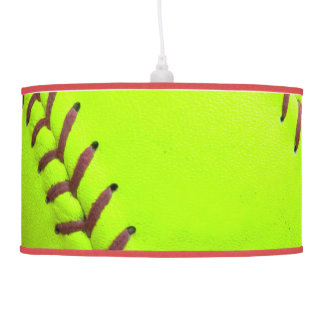 Softball Yellow Fast Pitch 8U Pendant Lamp Light
