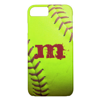 Softball Yellow Fast Pitch Monogram iPhone 7 Case