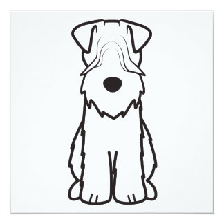 Softcoated Wheaten Terrier Dog Cartoon Card