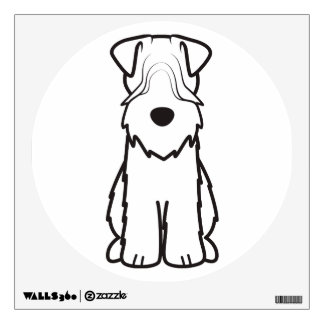 Softcoated Wheaten Terrier Dog Cartoon Wall Decal