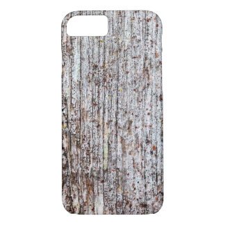 Softened board wall with white moss iPhone 8/7 case