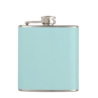 Softest Seafoam Light Blue Personalized Background Hip Flasks