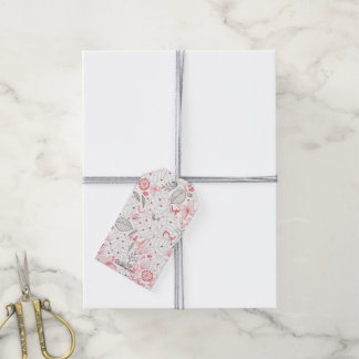 Softly Blooming Pink Nature Bouquet Gift Tags