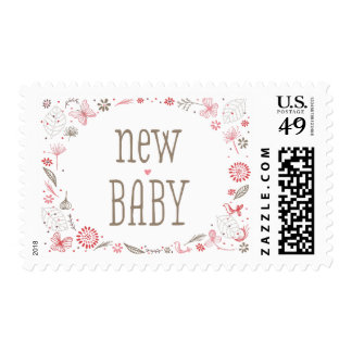 Softly Blooming Pink Nature Bouquet Postage
