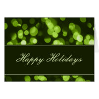 Softly Focused Happy Holidays Card (Green)