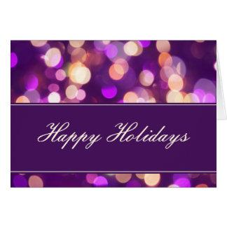Softly Focused Happy Holidays Card (Purple 1)