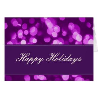 Softly Focused Happy Holidays Card (Purple 2)