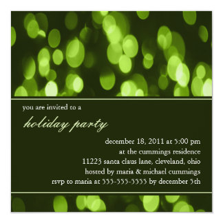 Softly Focused Holiday Party Invitation (Green)