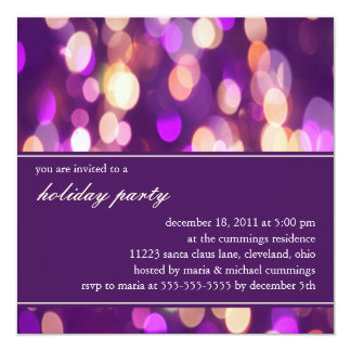 Softly Focused Holiday Party Invitation (Purple 1)