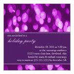 "Softly Focused Holiday Party Invitation (Purple 2) 5.25"" Square Invitation Card"
