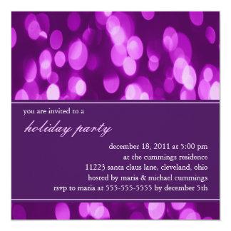 Softly Focused Holiday Party Invitation (Purple 2)