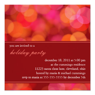 Softly Focused Holiday Party Invitation (Red)