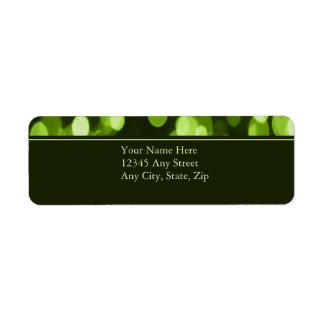 Softly Focused Return Address Avery Label (Green)
