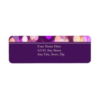 Softly Focused Return Address Avery Label (Purple