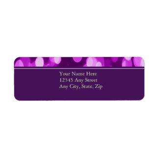 Softly Focused Return Address Avery Label Purple2