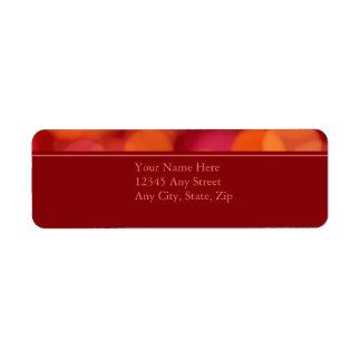 Softly Focused Return Address Avery Label (Red)