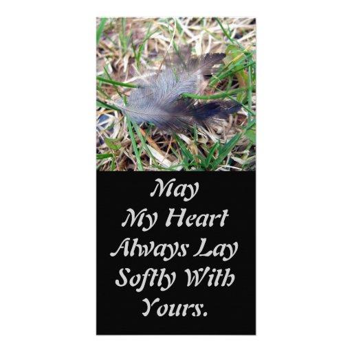 Softly Lay Photo Card