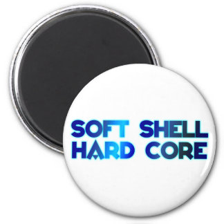 softly shell hard core 2 inch round magnet