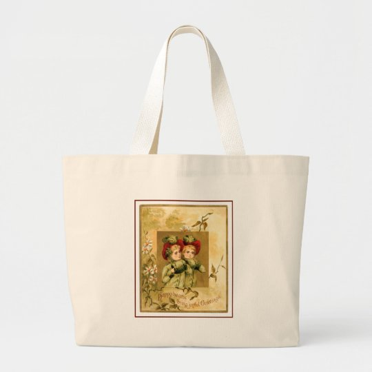 Softly Vintage Christmas Large Tote Bag