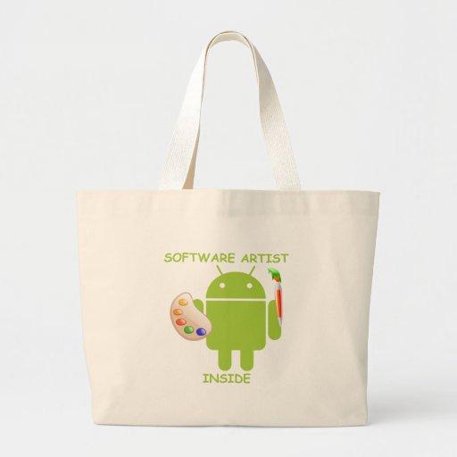 Software Artist Inside (Bugdroid Brush Palette) Canvas Bag