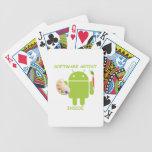 Software Artist Inside (Bugdroid Brush Palette) Poker Cards