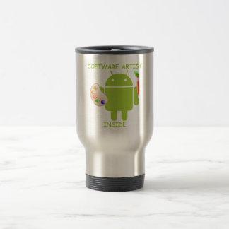 Software Artist Inside (Bugdroid Brush Palette) Travel Mug